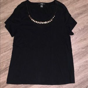 Style&Co. Top with sequin detail at neckline